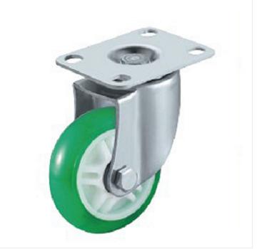 浙江中轻型双轴承高透明聚氨酯脚轮生产商