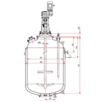 闭式搪玻璃反应釜