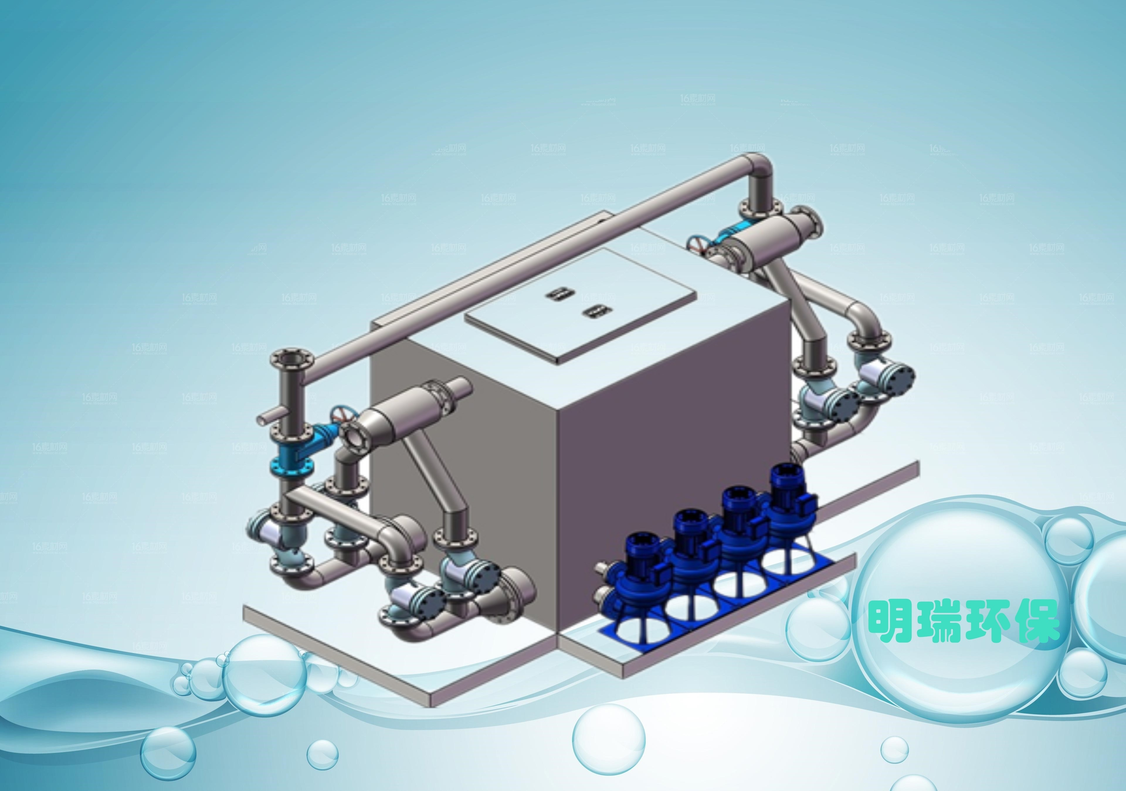 外置四泵智能排水设备