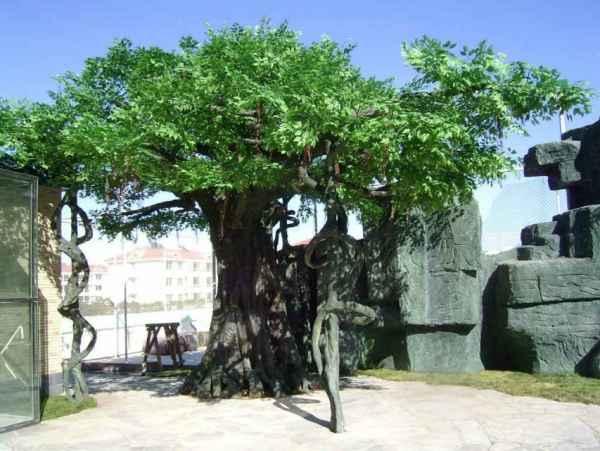 仿真水泥塑树