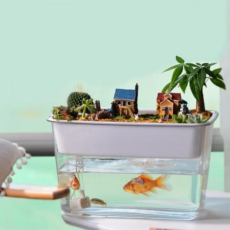 桌面免换水鱼缸