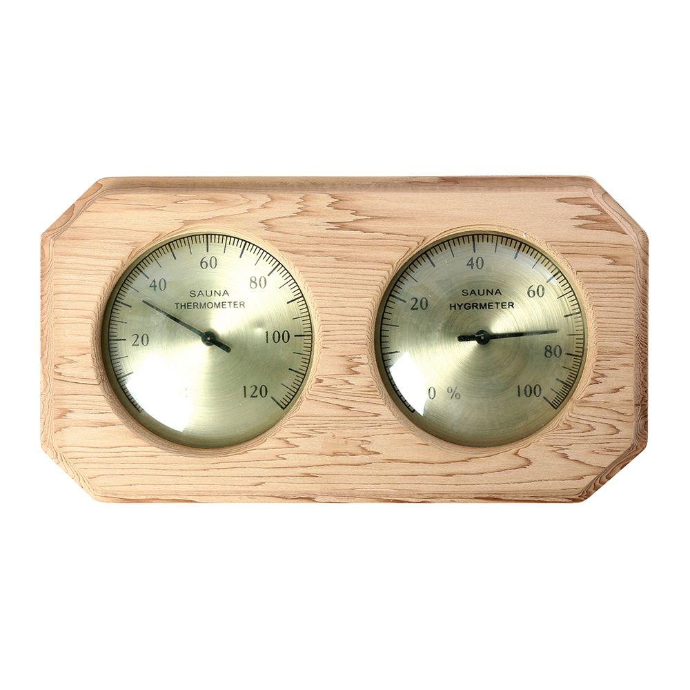 桑拿木质温湿度计