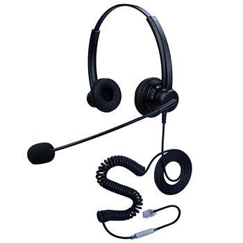 合镁双耳头戴式话务耳机
