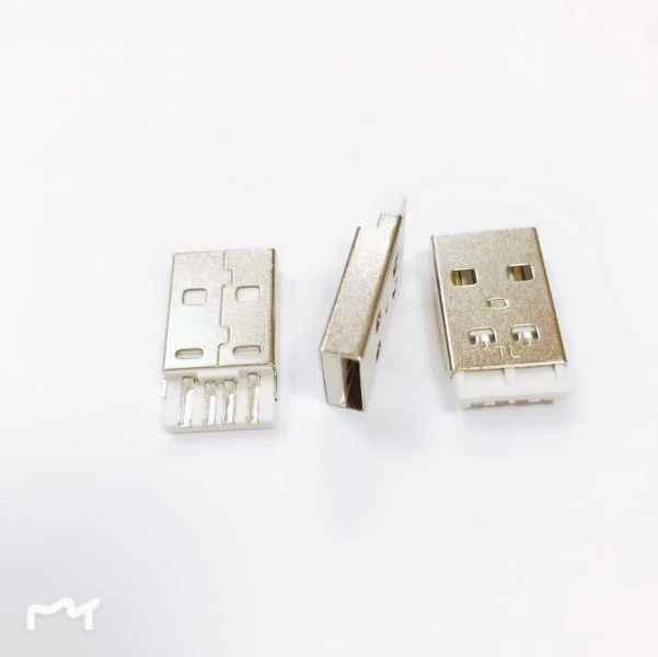USBAM短体白胶线端连接器