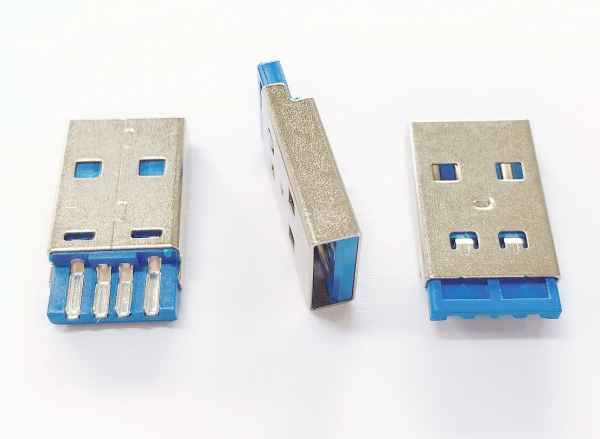USBAM短体蓝胶线端连接器