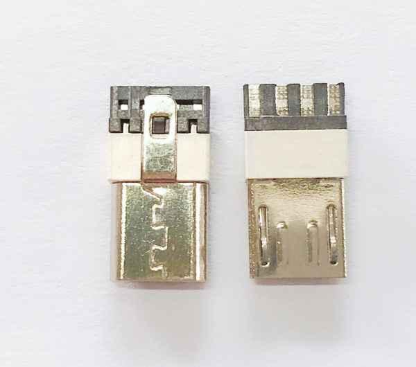 MICROUSB5M白胶线端连接器