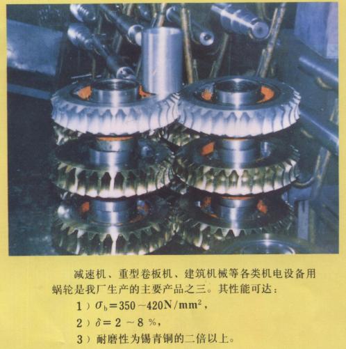 锌基合金减速机蜗轮