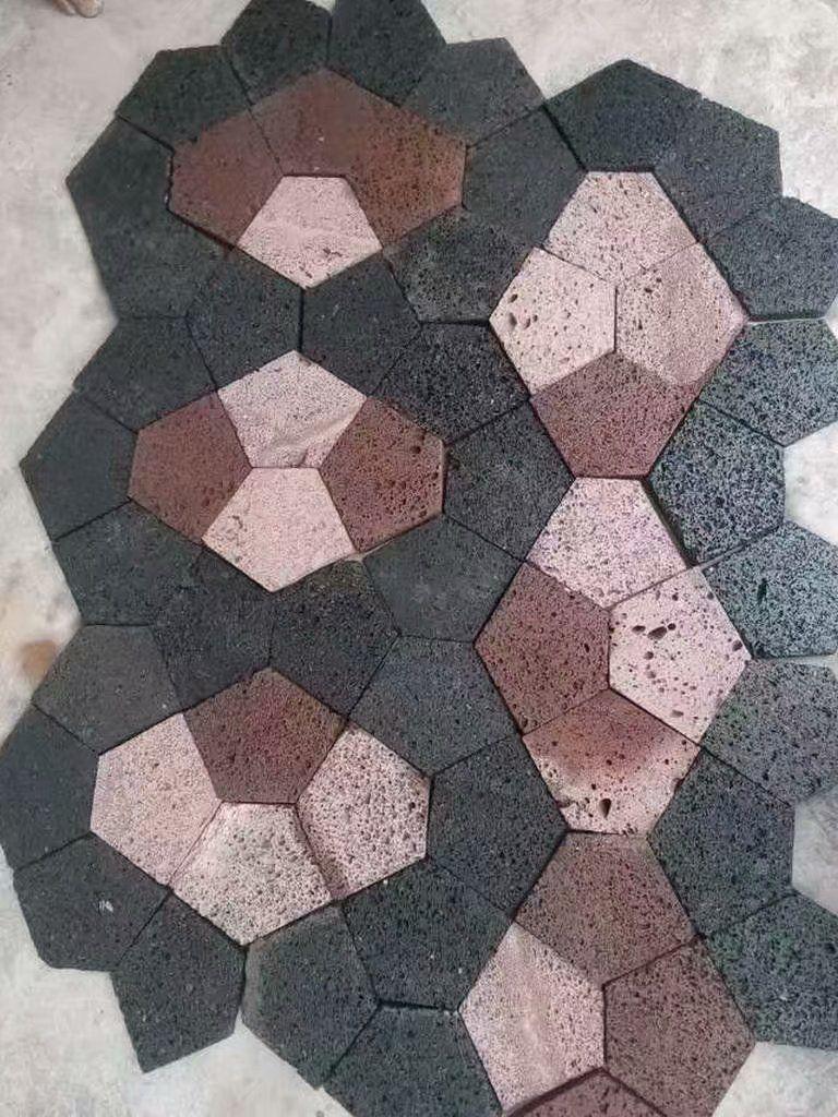 多种颜色火山岩地砖