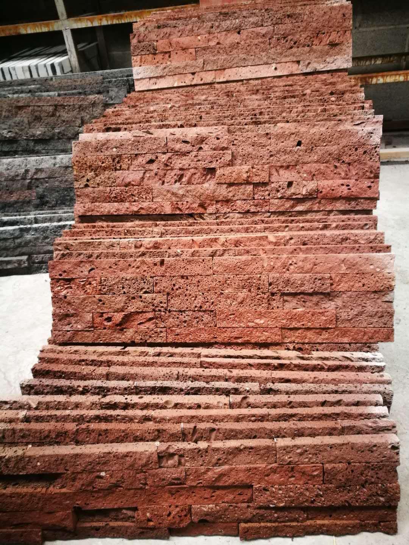 红色火山岩文化石|红色火山岩文化石公司