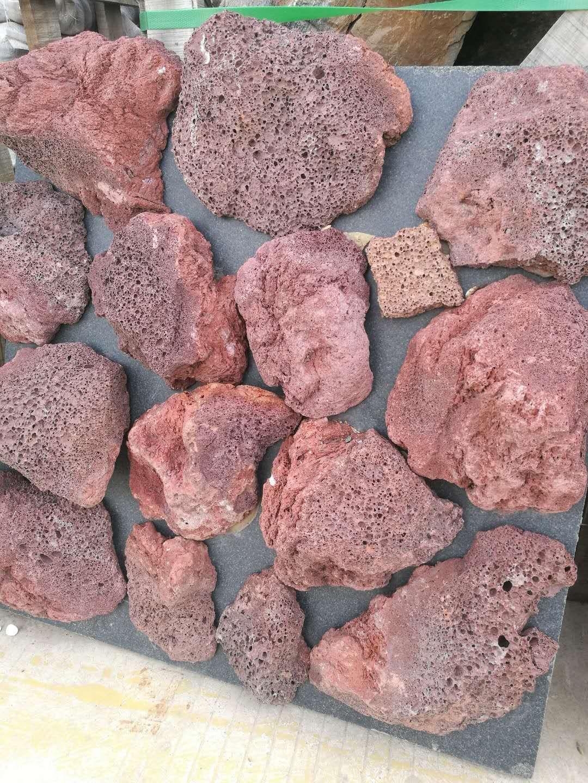 原石红色火山岩|原石红色火山岩