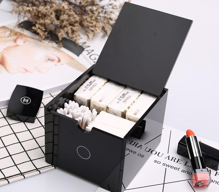 亞克力化妝棉收納盒批發