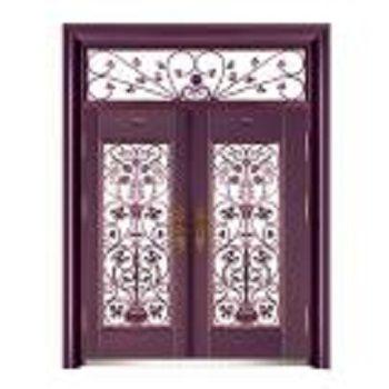 紫铜玻璃拼接门