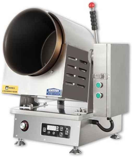 电磁台式滚筒炒菜机