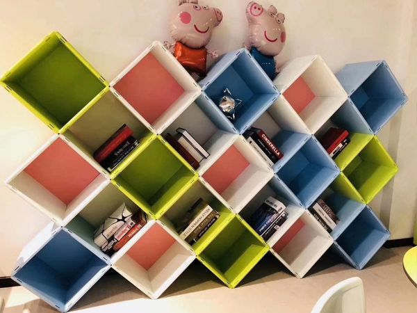 DIY积木式储物柜安装