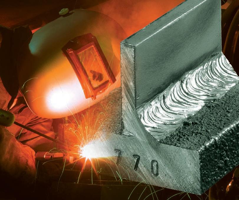 770鑄鐵用高強度抗爆裂及可加工焊條