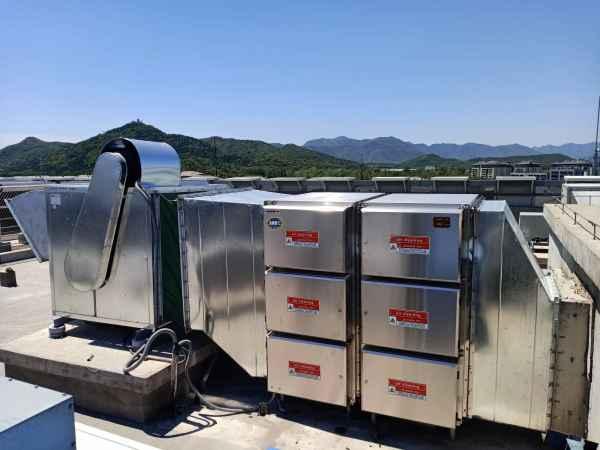 高空排放光解静电油烟污染设备