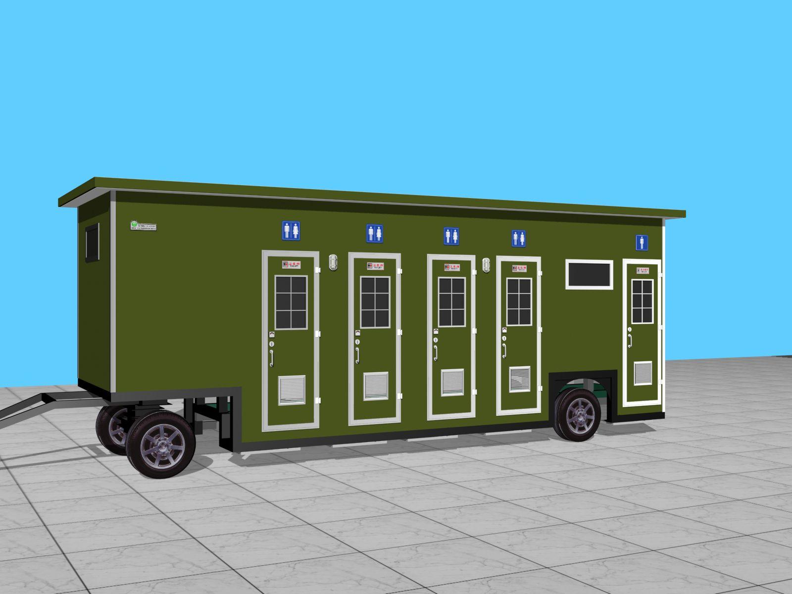甘肃拖车移动厕所生产销售