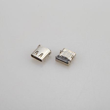 江西USB 3.1 TYPE CF 母座 24PIN 前插后贴式 DIP+SMT
