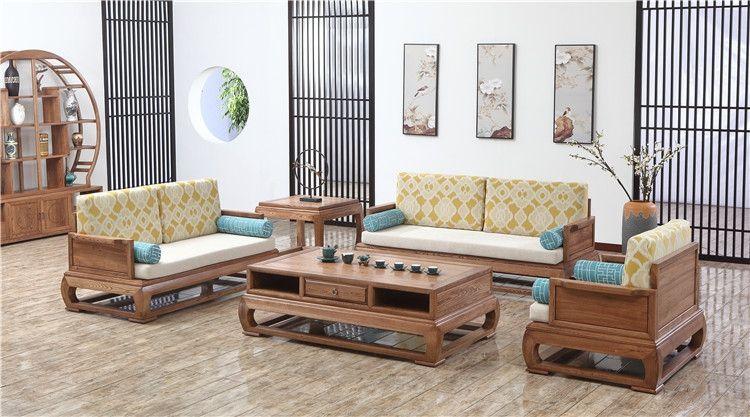 安徽环保客厅实木沙发批发