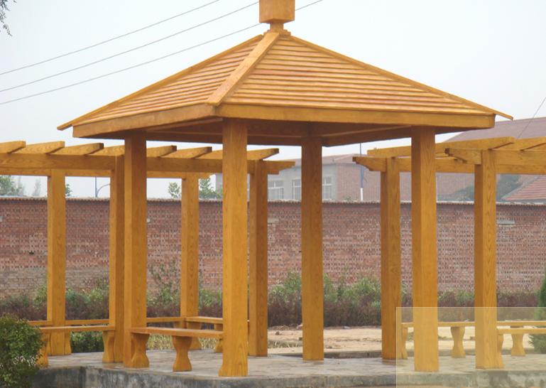 防木景观座椅制作安装