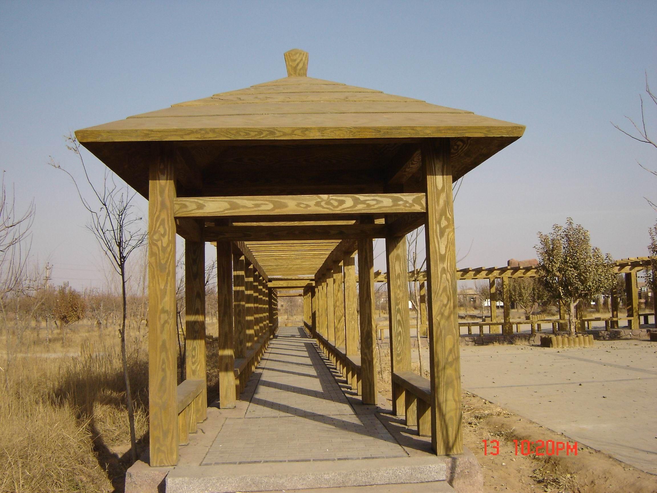 河北水泥仿木凉亭制作安装