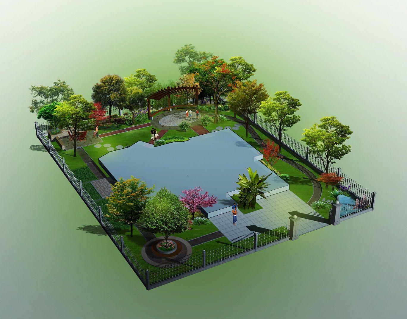 高端别墅花园设计施工