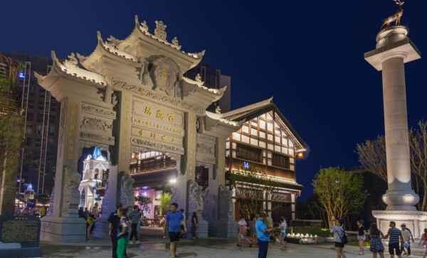 重慶古建筑夜景照明工程