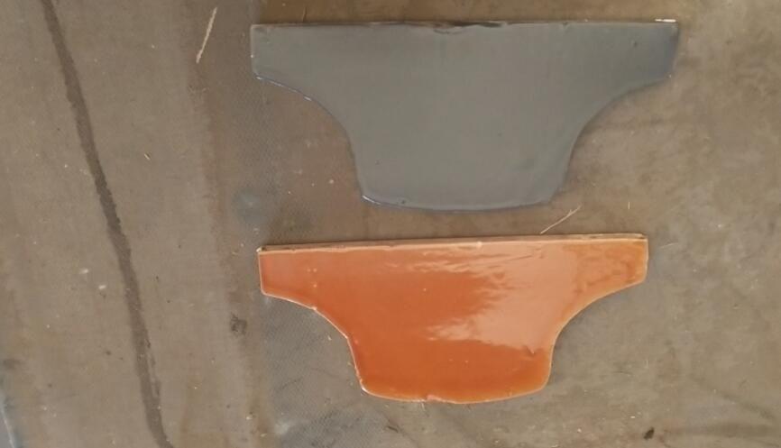 高温琉璃瓦斜盾瓦