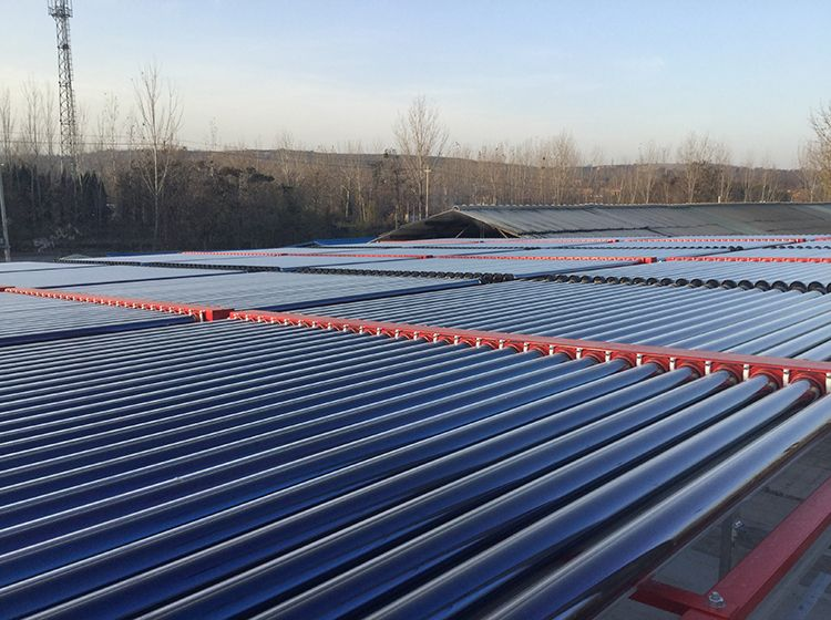 上海真空管型太阳能热水机组销售