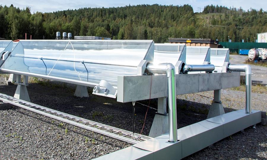 小型槽式太阳能集热器