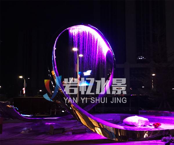 广州高端室外雕塑水幕设计