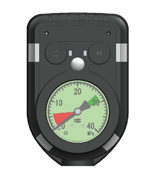 船舶空气呼吸器电子报警压力表