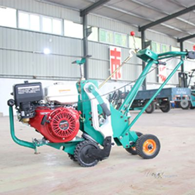超新低马尼拉草皮移植机加大行走轮起草坪机