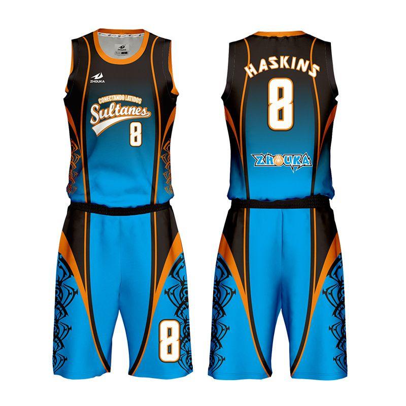 广州洲卡男性篮球服diy定制