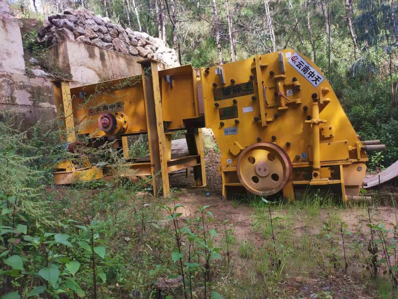 二手95新鵝暖石制砂生產線設備二合一破碎機制砂機設備出售