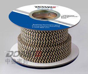ZD-P1420芳纶交织黑四氟盘根