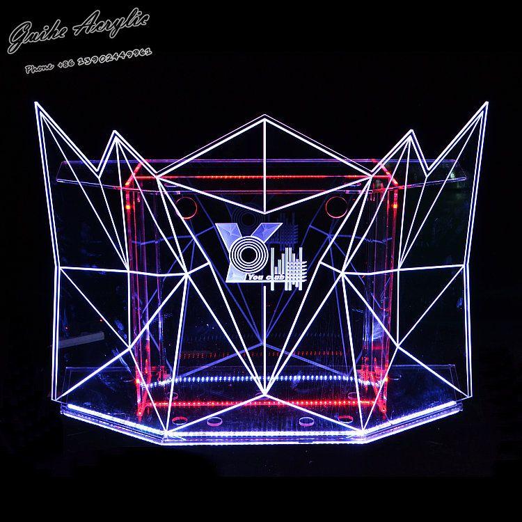 酒吧DJ臺KTV吧臺打碟機桌子LED發光調音臺