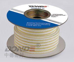 ZD-P1423芳纶包角白四氟盘根