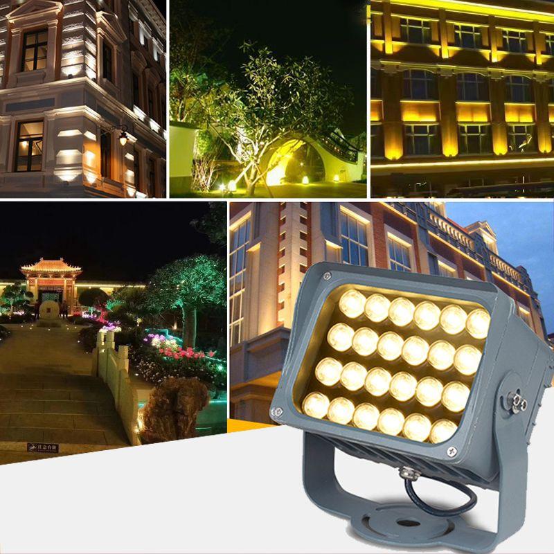 LED投光灯线型投光灯led线条灯户外楼体桥梁防水投射灯12W18W24W36W