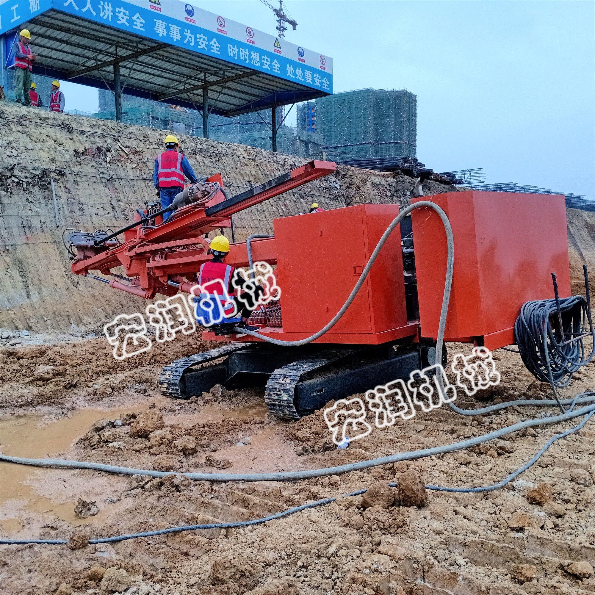 打锚杆钻机 基坑支护工程锚固钻机 锚固工程钻机可优惠