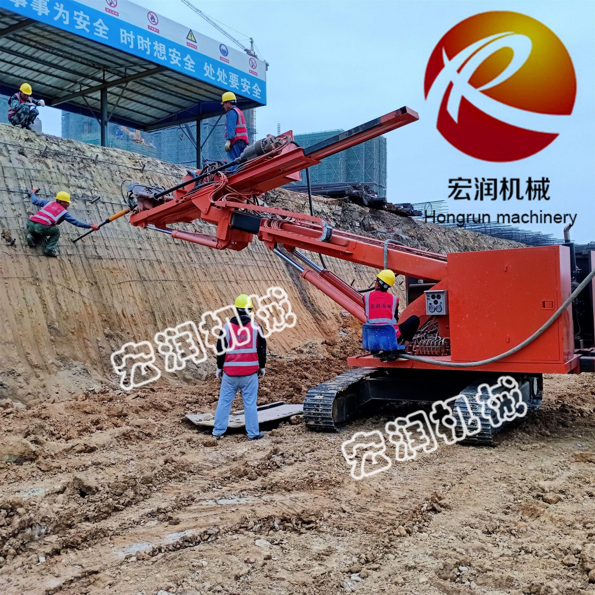 山东生产履带式锚固钻机 20米基坑支护锚固钻机价格