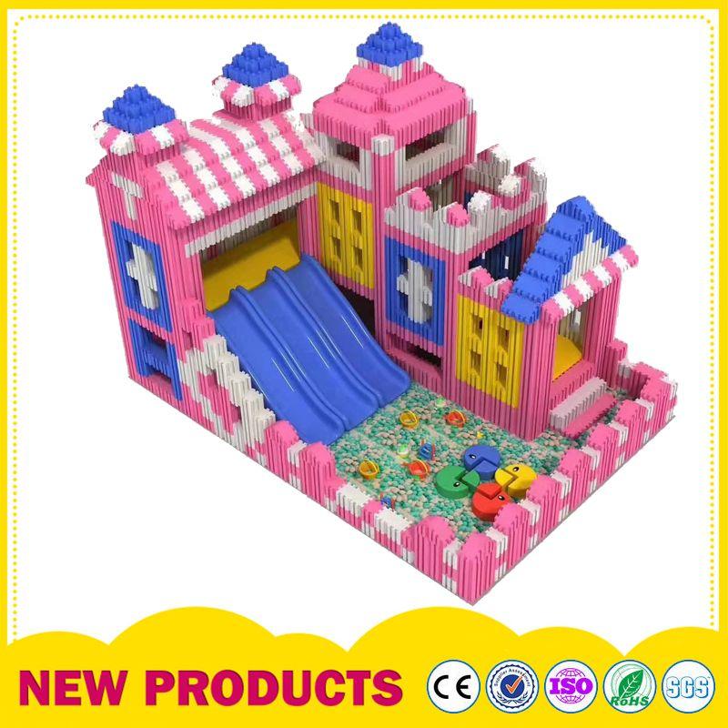 室内EPP积木城堡 双孔方砖DIY玩具 商场儿童乐园淘气堡泡沫积木