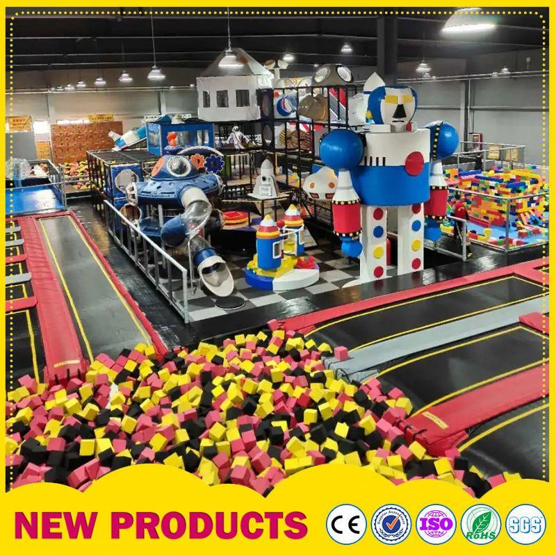 新款大型室内儿童乐园淘气堡 室内儿童游乐园 超级蹦床厂家定制
