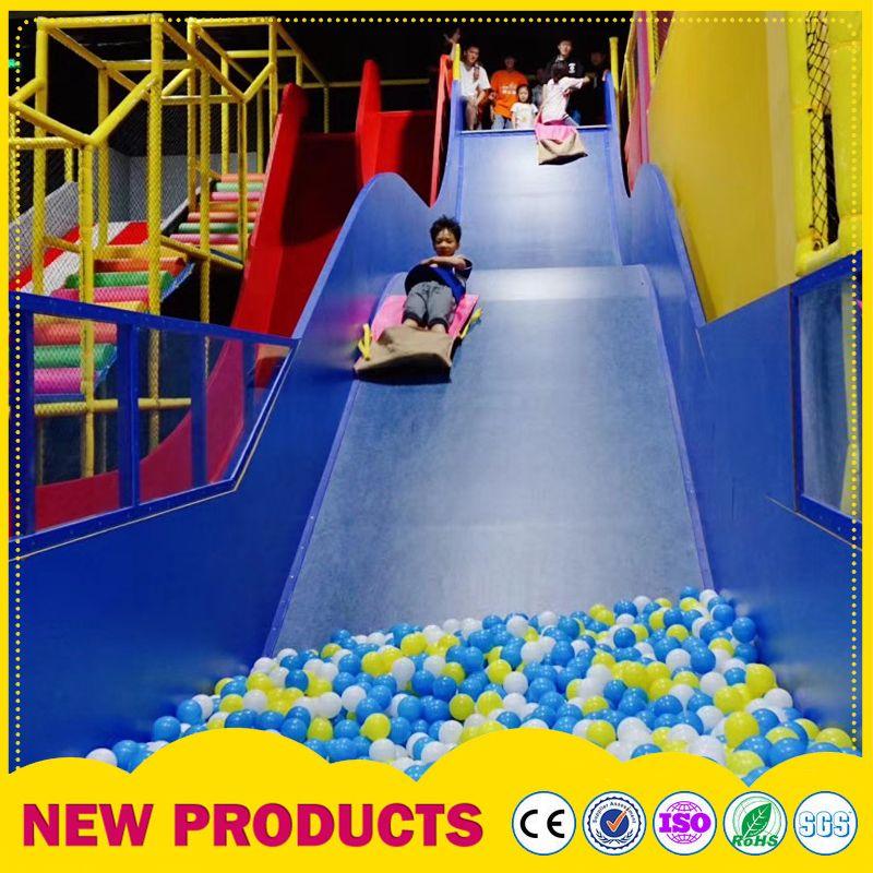 大型商场室内儿童乐园 英伦风淘气堡海洋球池 彩色童年玻璃钢滑梯