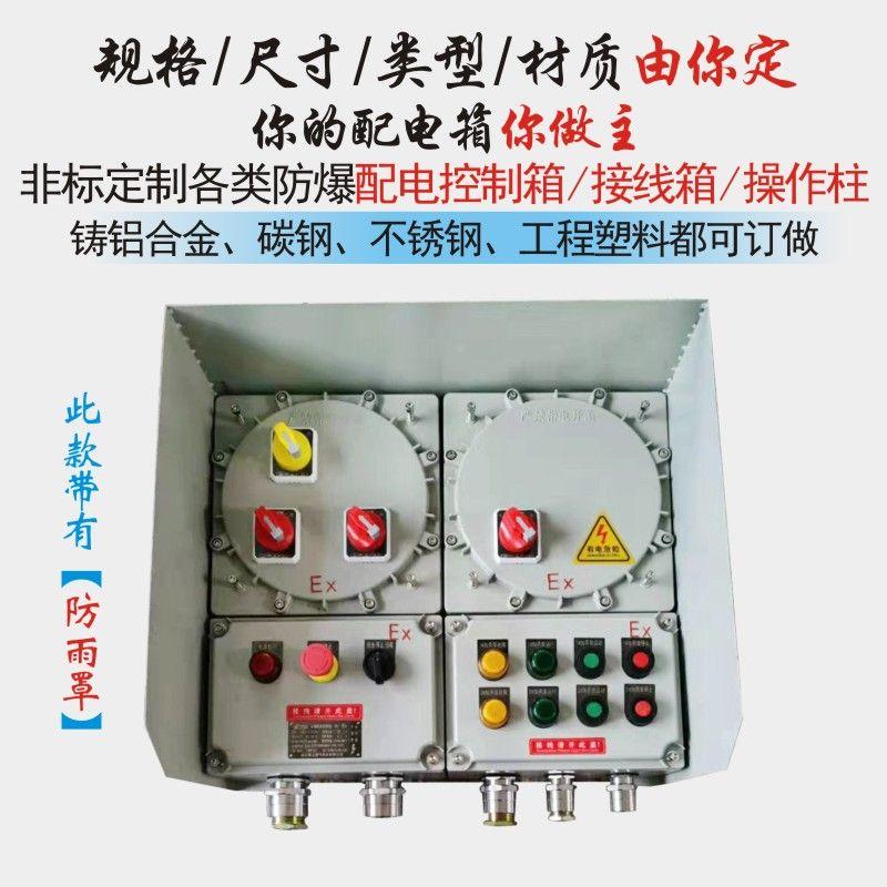 防爆配电箱照明动力控制箱防爆柜仪表不锈钢防爆箱铸铝防爆接线箱