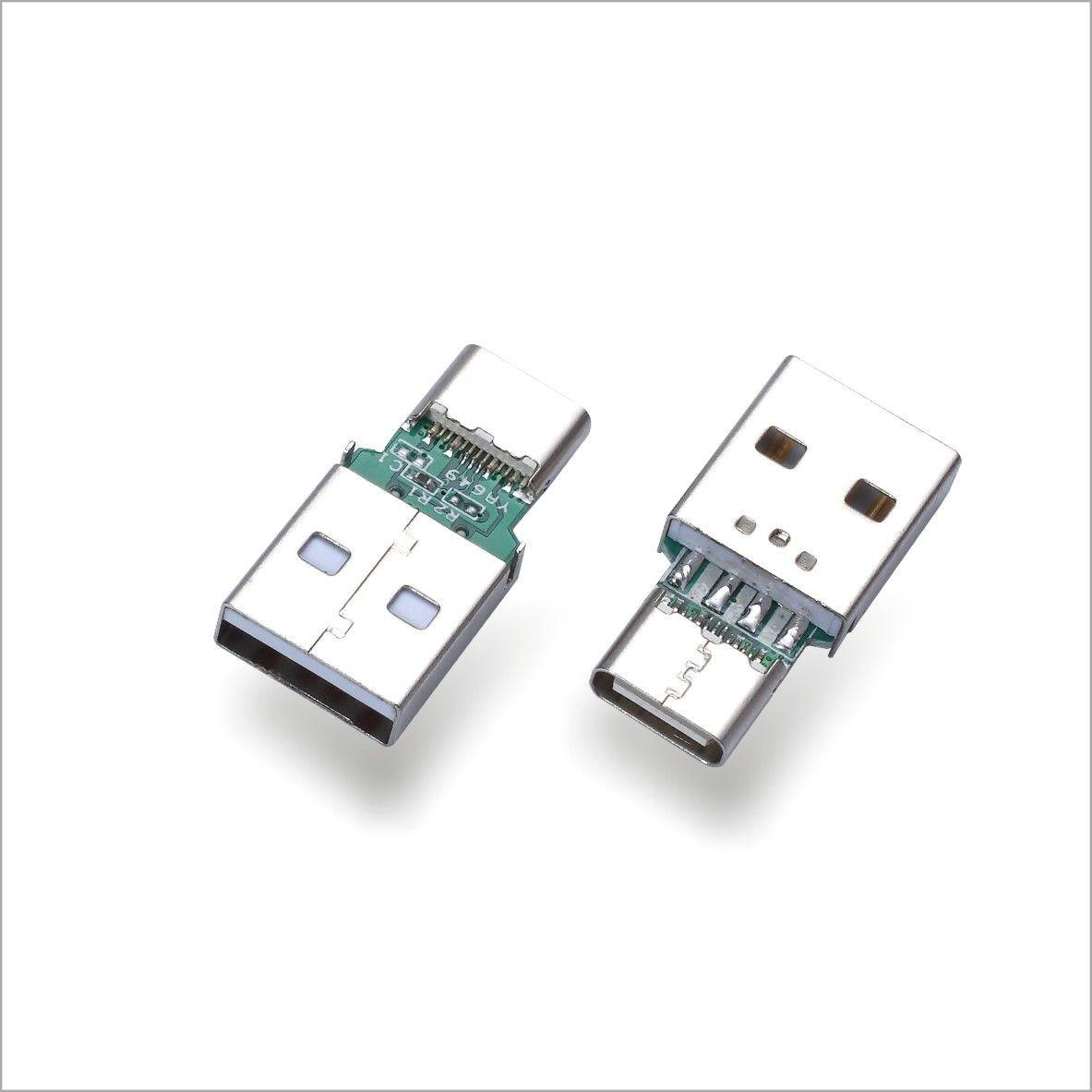 厂家直销USB2.0A母转TYPEC公头