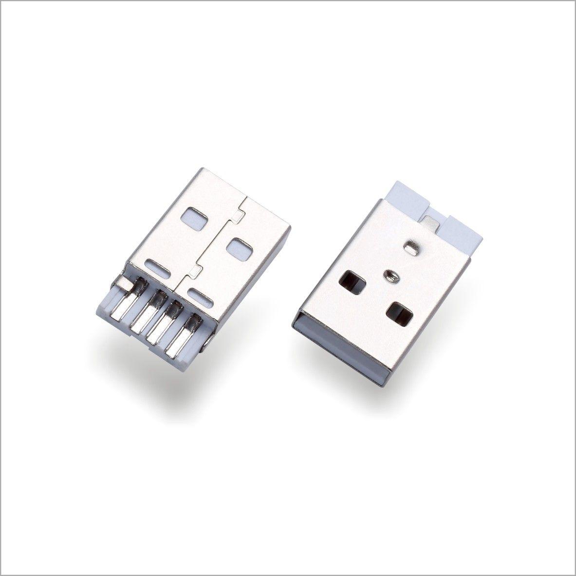 USBAM2.0公頭鐵殼接地廠家批發