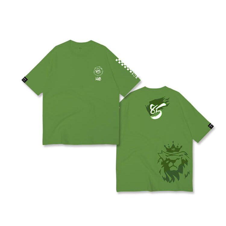 明星应援服定制王一博应援绿色T恤