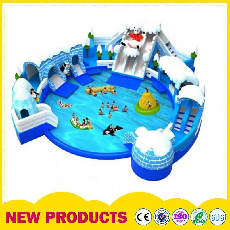 大型戶外充氣游泳池 支架水池游樂園設備 成人兒童水上樂園設備
