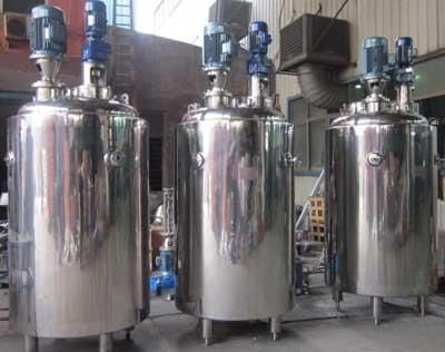 加工定做2吨不锈钢固定式真空搅拌罐 不锈钢304材质双层加热搅拌罐